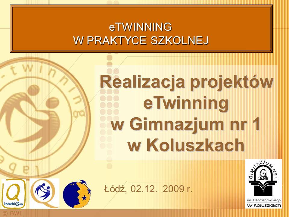 Realizacja projektów eTwinning w Gimnazjum nr 1 w Koluszkach