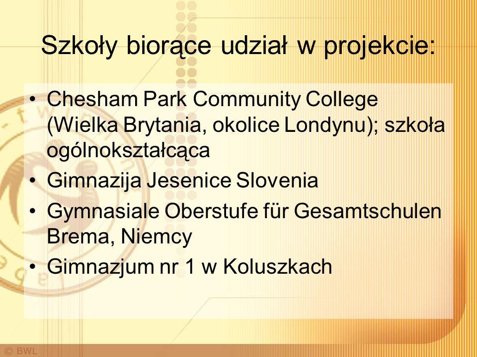 Szkoły biorące udział w projekcie: