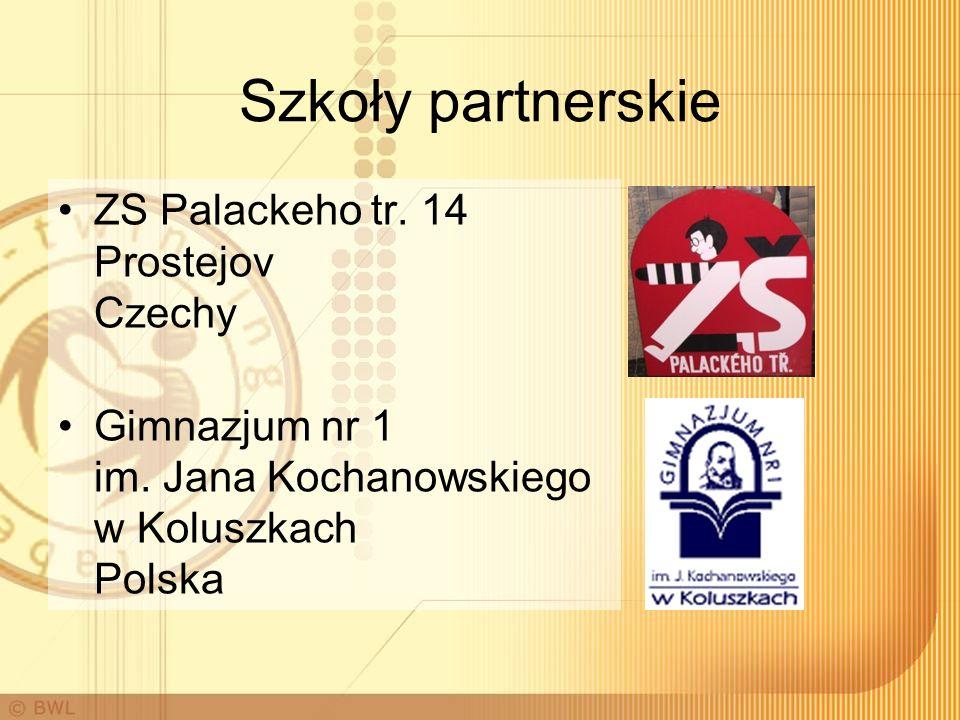 Szkoły partnerskie ZS Palackeho tr. 14 Prostejov Czechy