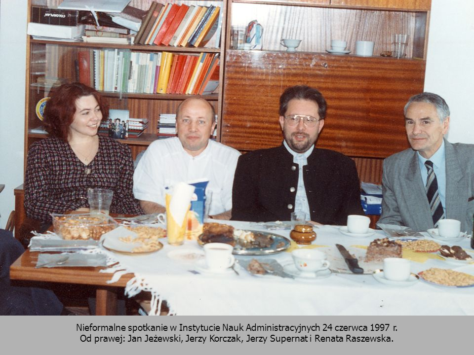 Nieformalne spotkanie w Instytucie Nauk Administracyjnych 24 czerwca 1997 r.
