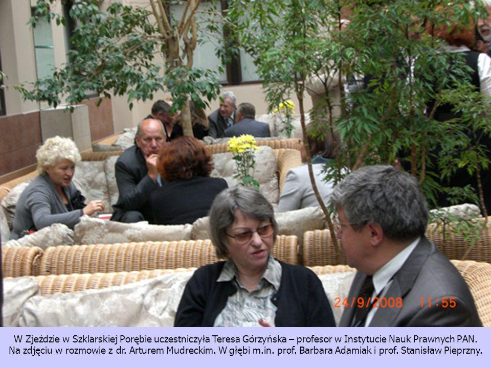 W Zjeździe w Szklarskiej Porębie uczestniczyła Teresa Górzyńska – profesor w Instytucie Nauk Prawnych PAN.