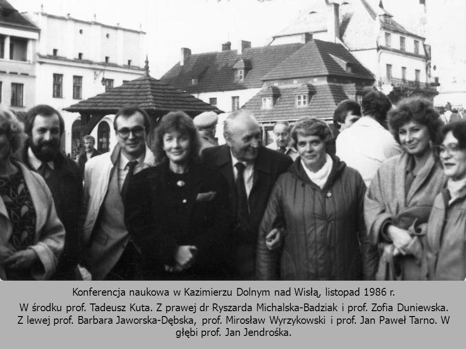 Konferencja naukowa w Kazimierzu Dolnym nad Wisłą, listopad 1986 r.