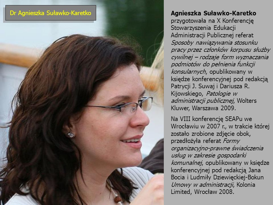 Dr Agnieszka Suławko-Karetko