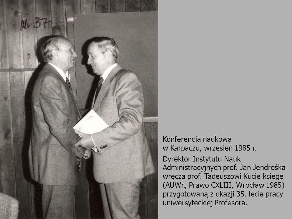 Konferencja naukowa w Karpaczu, wrzesień 1985 r.