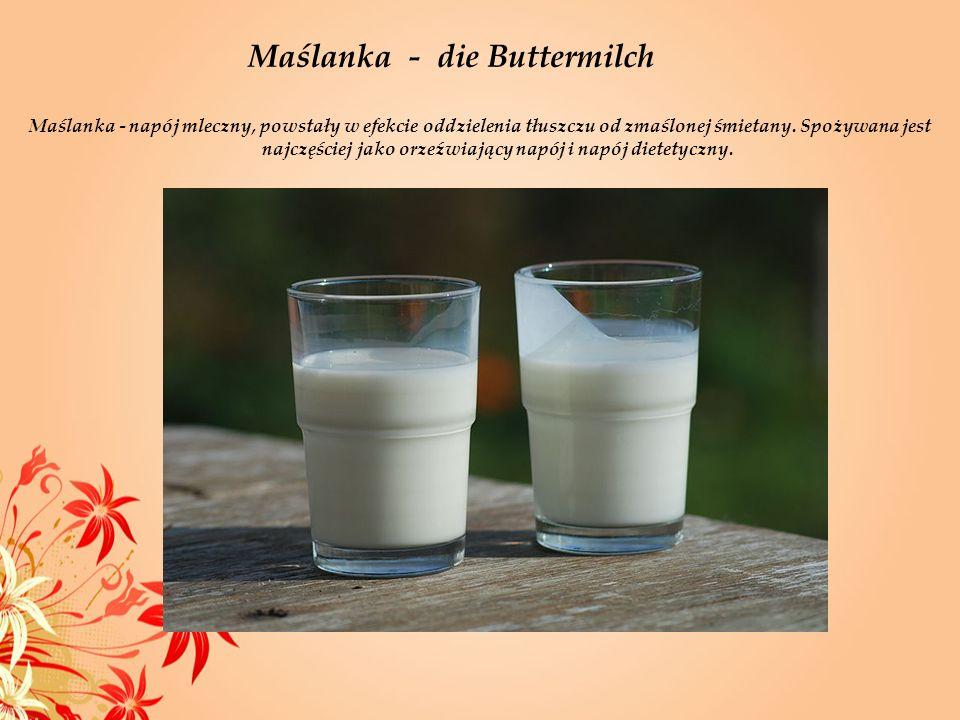 Maślanka - die Buttermilch
