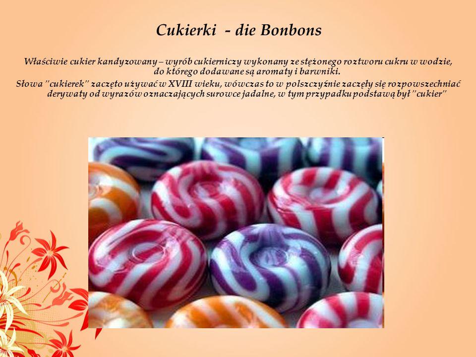 Cukierki - die Bonbons