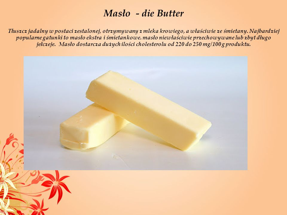 Masło - die Butter