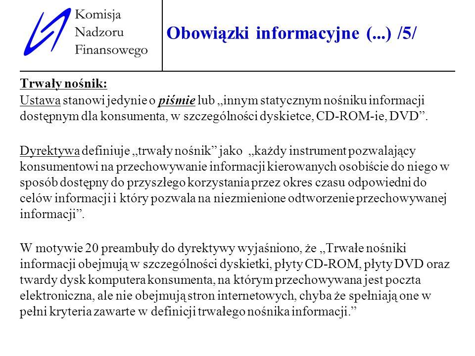 Obowiązki informacyjne (...) /5/