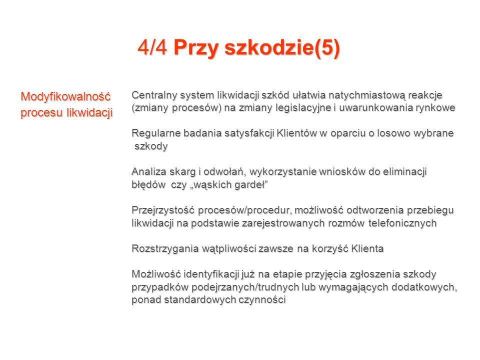 4/4 Przy szkodzie(5) Modyfikowalność procesu likwidacji