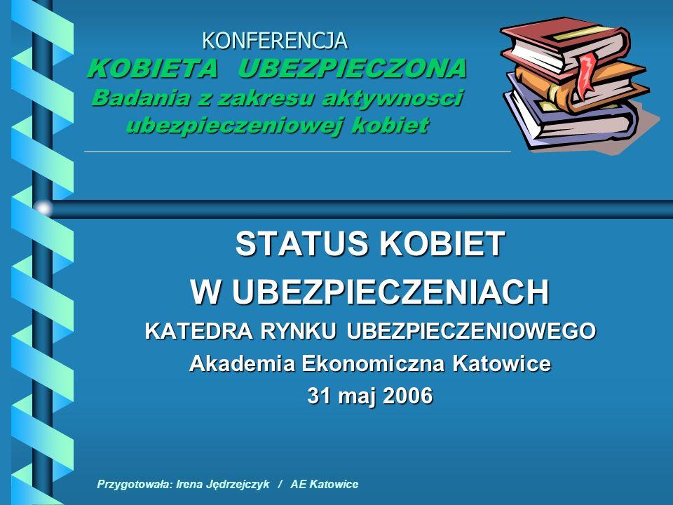 KATEDRA RYNKU UBEZPIECZENIOWEGO Akademia Ekonomiczna Katowice