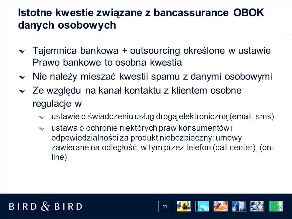 Istotne kwestie związane z bancassurance OBOK danych osobowych