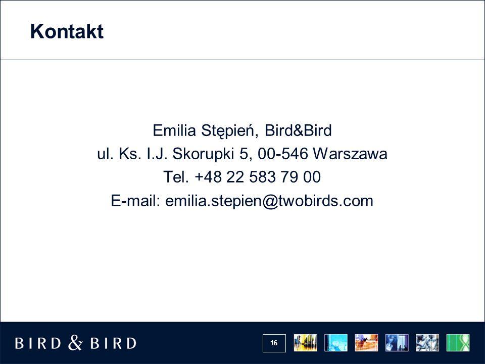 Kontakt Emilia Stępień, Bird&Bird