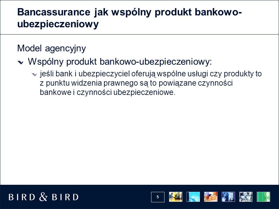 Bancassurance jak wspólny produkt bankowo-ubezpieczeniowy