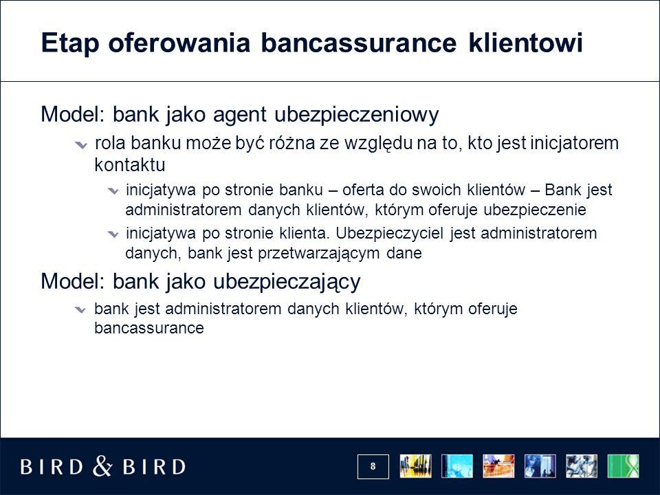 Etap oferowania bancassurance klientowi