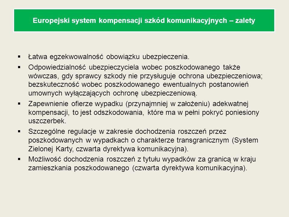 Europejski system kompensacji szkód komunikacyjnych – zalety