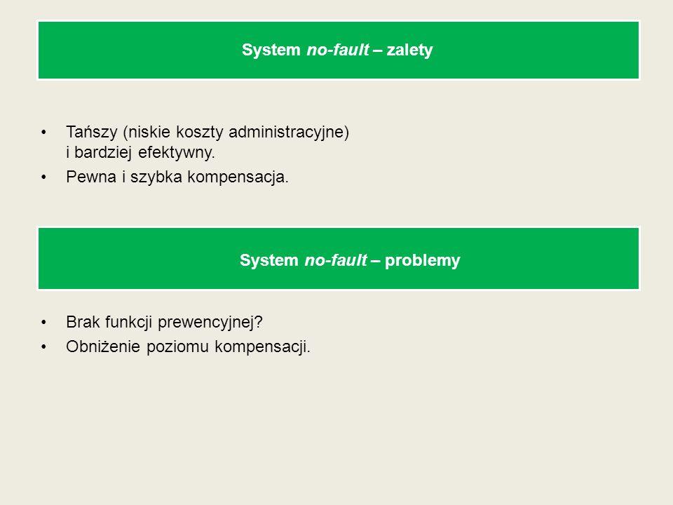 System no-fault – zalety