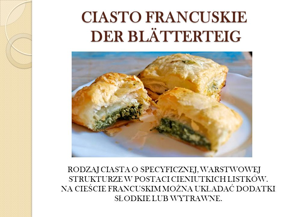CIASTO FRANCUSKIE DER BLÄTTERTEIG