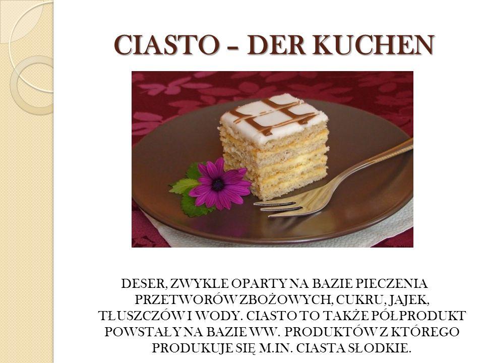 CIASTO – DER KUCHEN