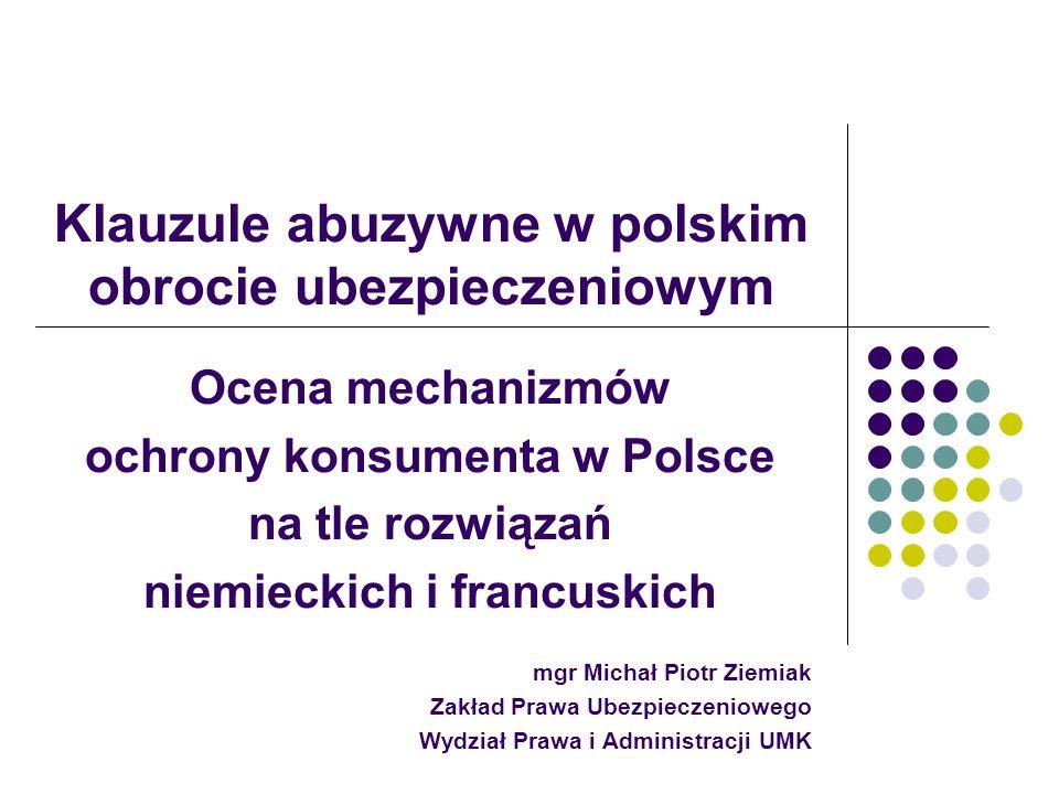 Klauzule abuzywne w polskim obrocie ubezpieczeniowym