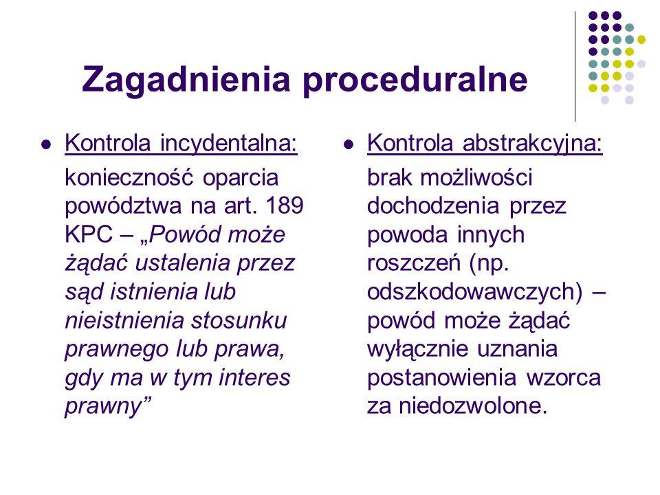 Zagadnienia proceduralne