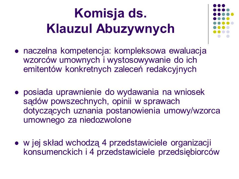 Komisja ds. Klauzul Abuzywnych
