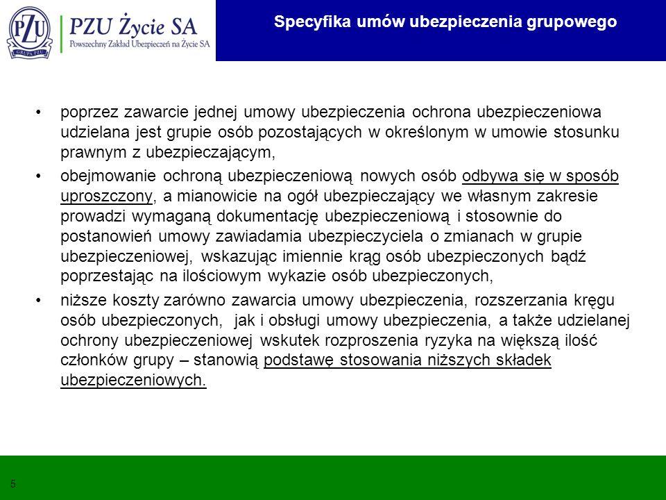 Specyfika umów ubezpieczenia grupowego