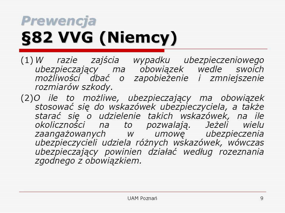Prewencja §82 VVG (Niemcy)