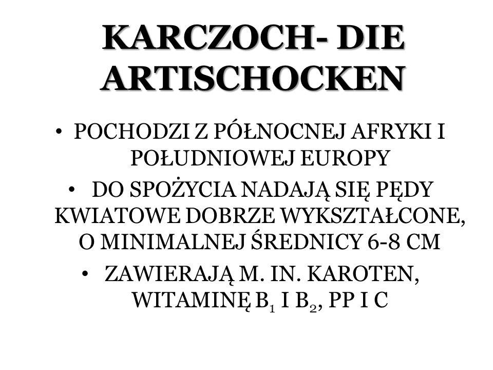 KARCZOCH- DIE ARTISCHOCKEN
