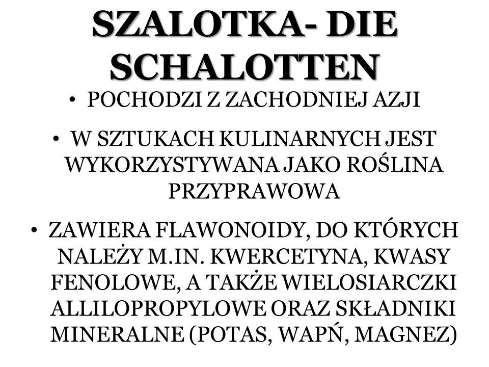 SZALOTKA- DIE SCHALOTTEN