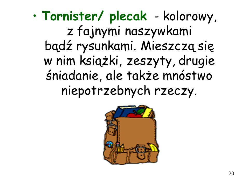 Tornister/ plecak - kolorowy, z fajnymi naszywkami bądź rysunkami