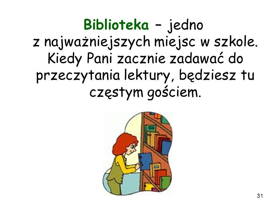 Biblioteka – jedno z najważniejszych miejsc w szkole