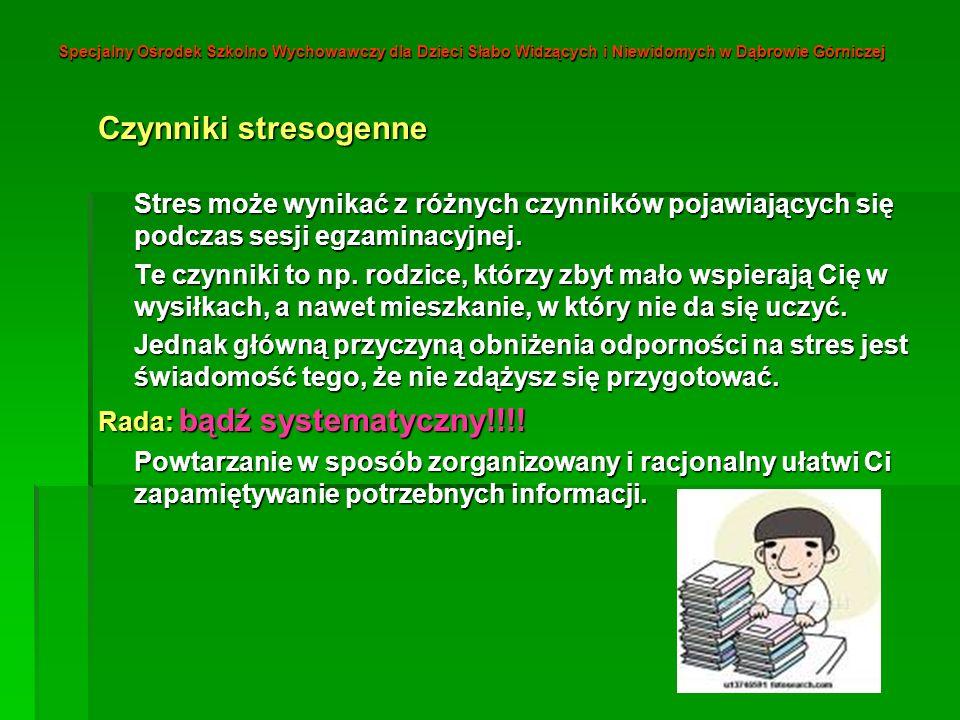 Specjalny Ośrodek Szkolno Wychowawczy dla Dzieci Słabo Widzących i Niewidomych w Dąbrowie Górniczej