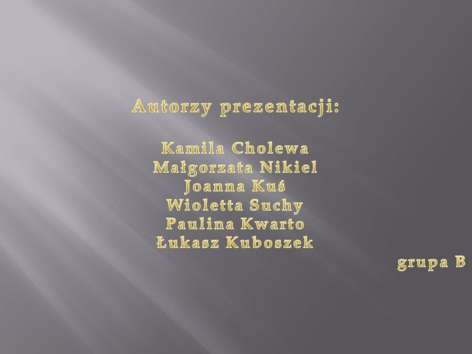 Autorzy prezentacji: Kamila Cholewa Małgorzata Nikiel Joanna Kuś