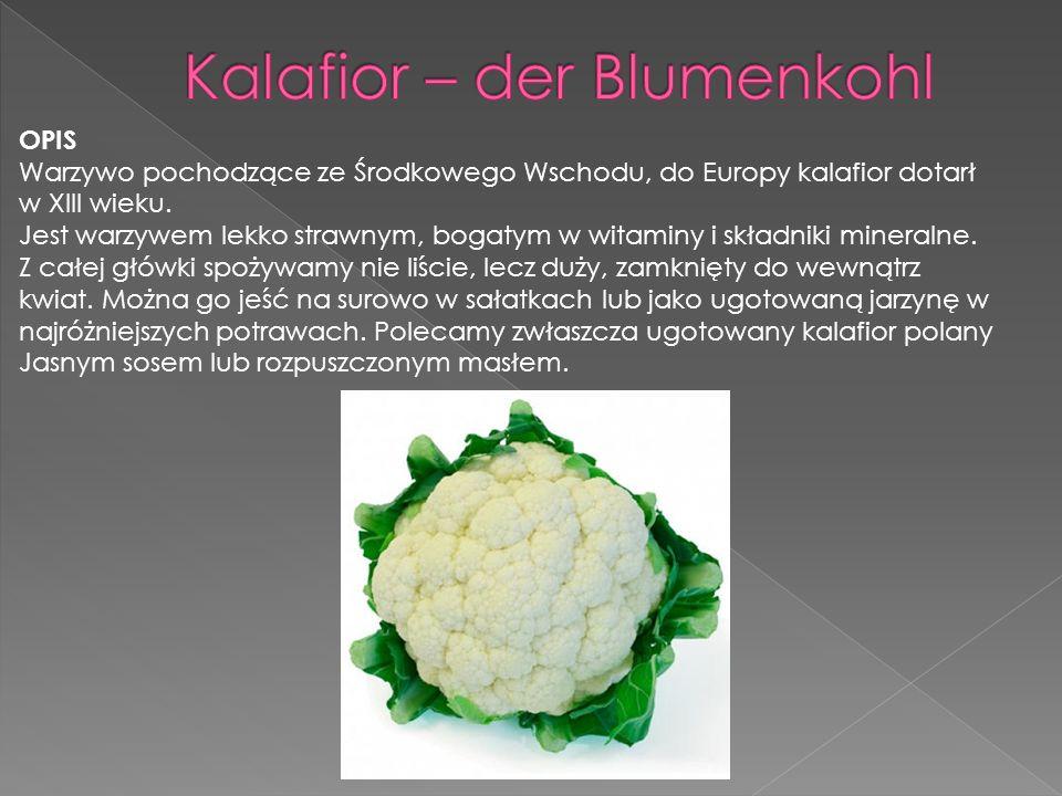 Kalafior – der Blumenkohl