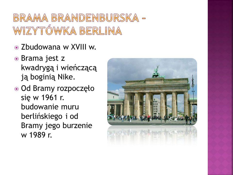 Brama Brandenburska – wizytówka Berlina