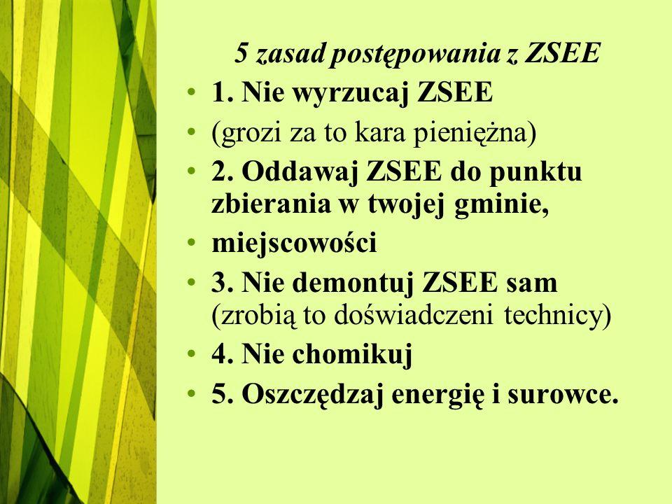 5 zasad postępowania z ZSEE