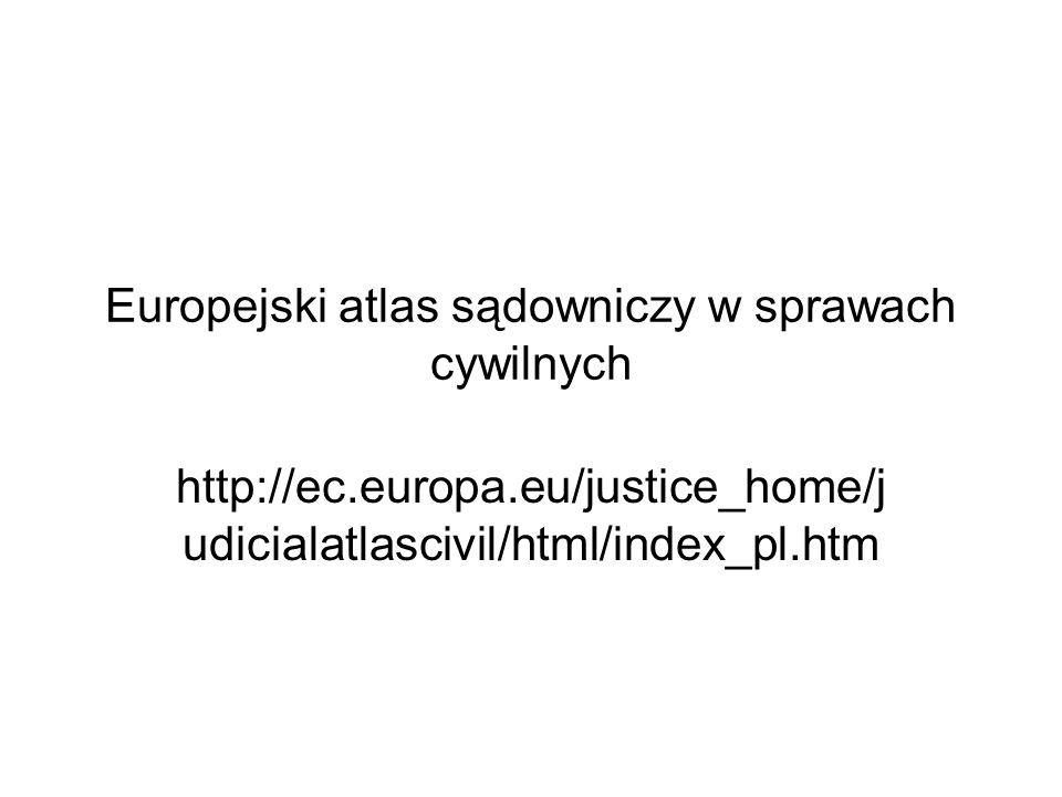 Europejski atlas sądowniczy w sprawach cywilnych