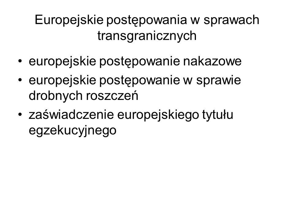 Europejskie postępowania w sprawach transgranicznych