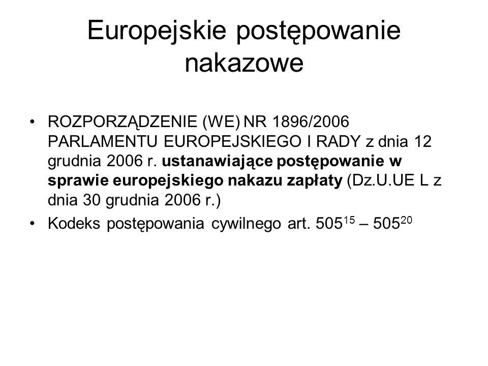 Europejskie postępowanie nakazowe