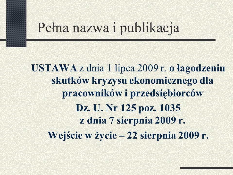 Pełna nazwa i publikacja
