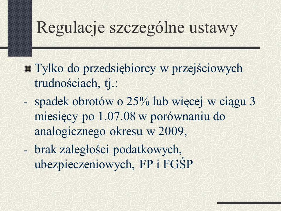 Regulacje szczególne ustawy
