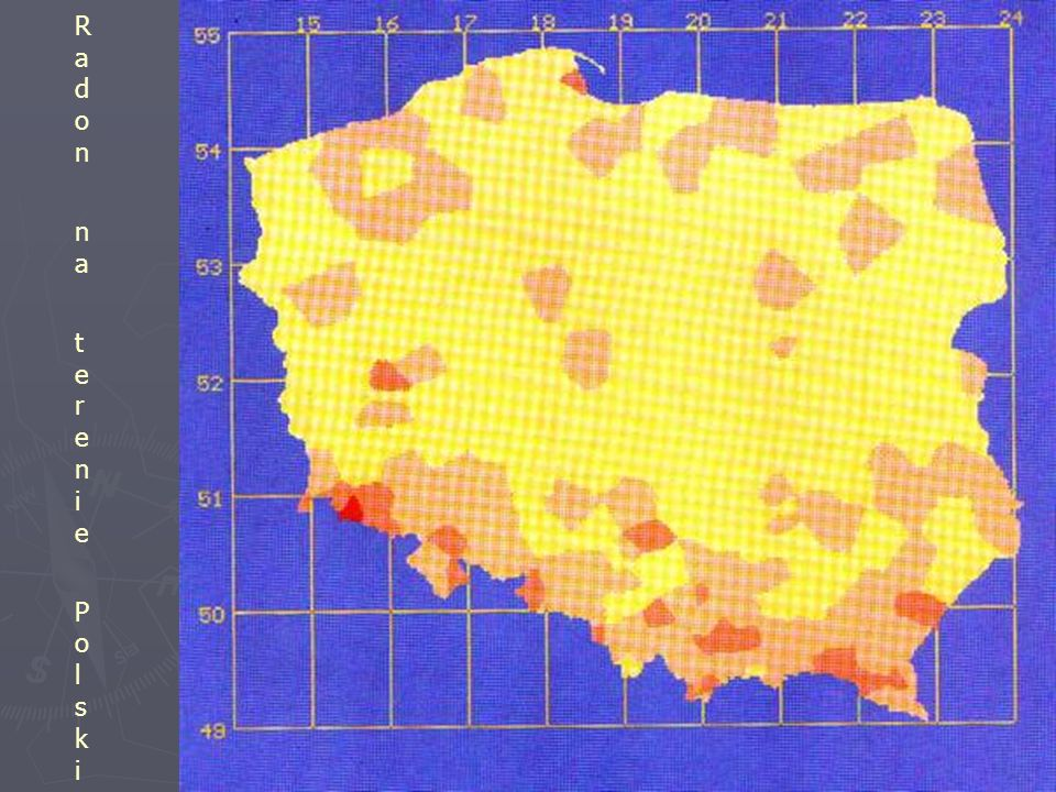 Radon na terenie Polski