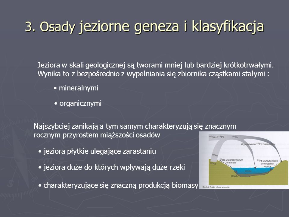 3. Osady jeziorne geneza i klasyfikacja