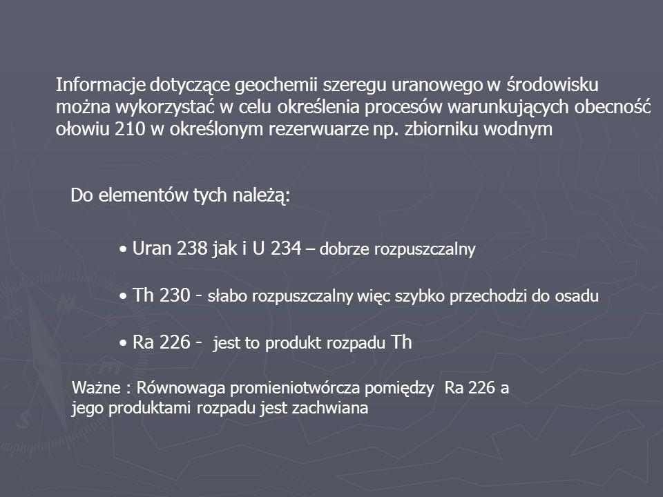 Informacje dotyczące geochemii szeregu uranowego w środowisku