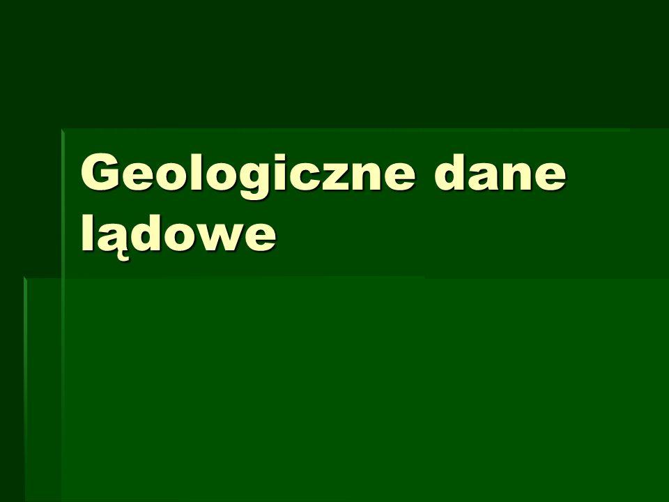 Geologiczne dane lądowe