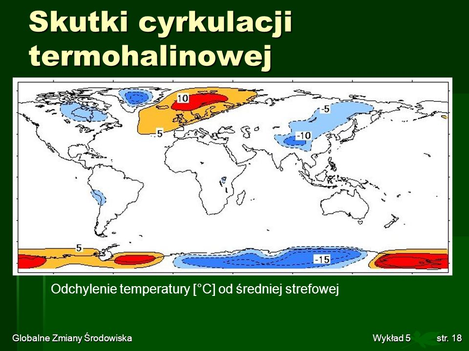 Skutki cyrkulacji termohalinowej