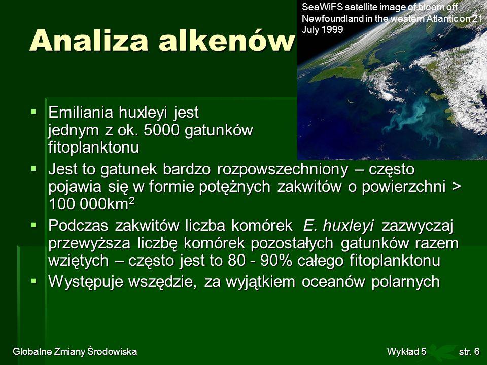 Globalne Zmiany Środowiska Wykład 5