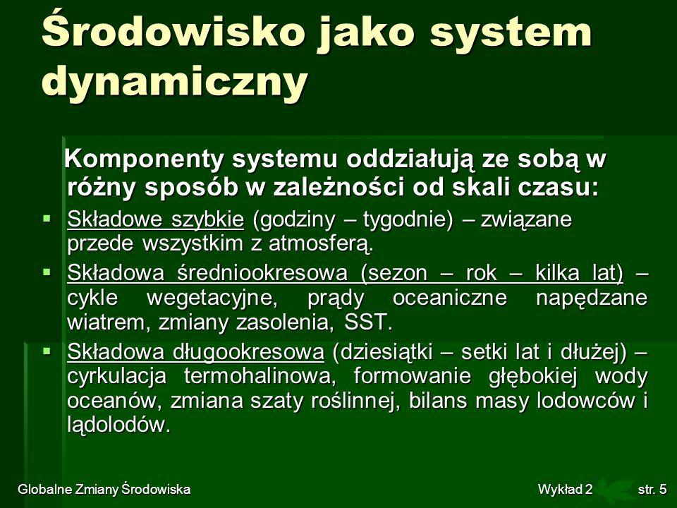 Środowisko jako system dynamiczny