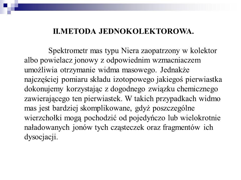 II.METODA JEDNOKOLEKTOROWA.