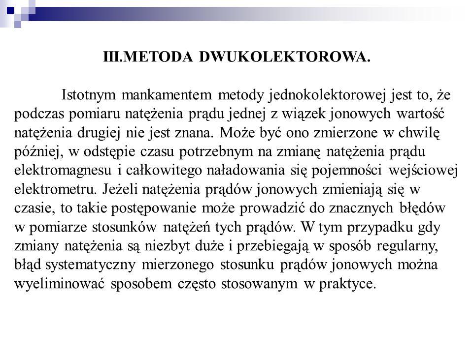 III.METODA DWUKOLEKTOROWA.